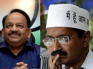 delhi kejriwal and harshvardhan
