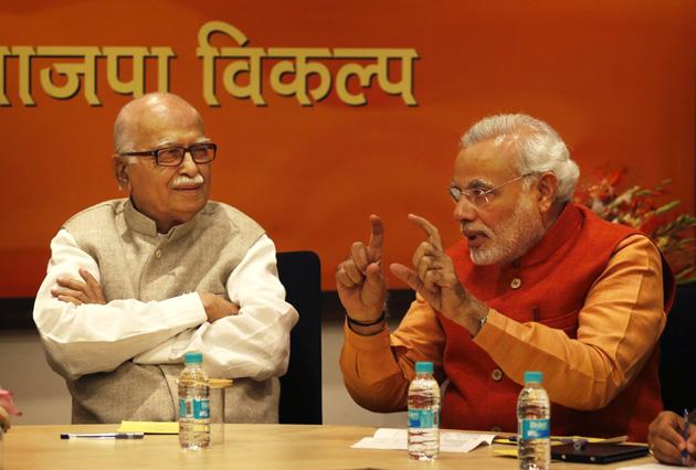 Narendra Modi, Lal Krishna Advani