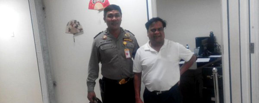 Rajan arrest banner