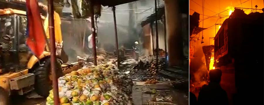 fire at Crawford Market
