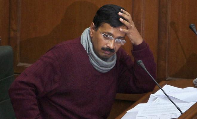 Kejriwal at Delhi Assembly