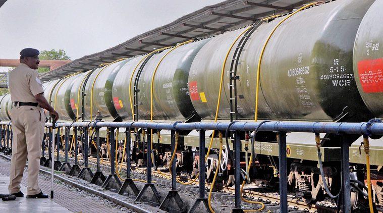 Train loading water