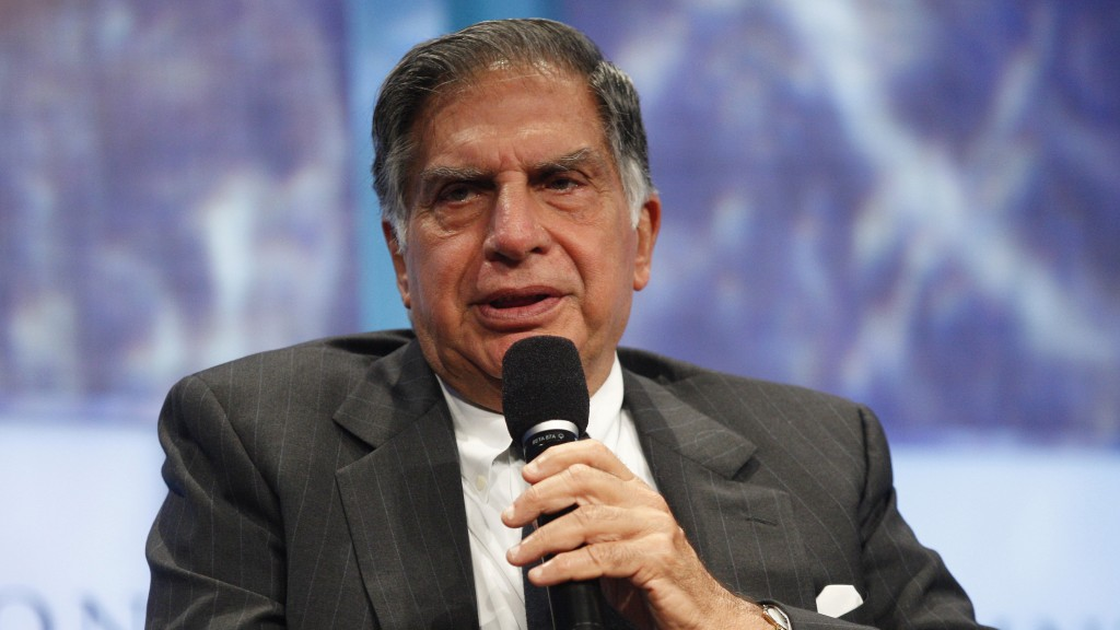 "Ratan Tata, Chairman of Tata Sons, participates in a panel discussion titled ""Enhancing Access to Modern Technology,"" at the Clinton Global Initiative, in New York"