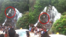 बाहुबली स्टाईल उडी जीवावर बेतली,धबधब्यावरुन पडल्यानं तरुणाचा मृत्यू
