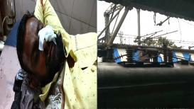 अंबरनाथ स्टेशनवर पेंटाग्राफ तुटून 6 प्रवाशी जखमी