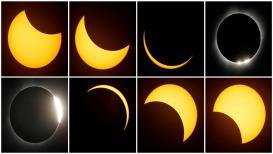 पाहा अमेरिकेतलं खग्रास सूर्यग्रहण