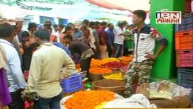 नागपूरच्या फूल बाजारात दिवाळीसाठी गर्दी